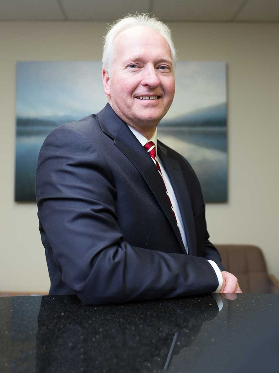 Attorney Mark Malzahn At Desk